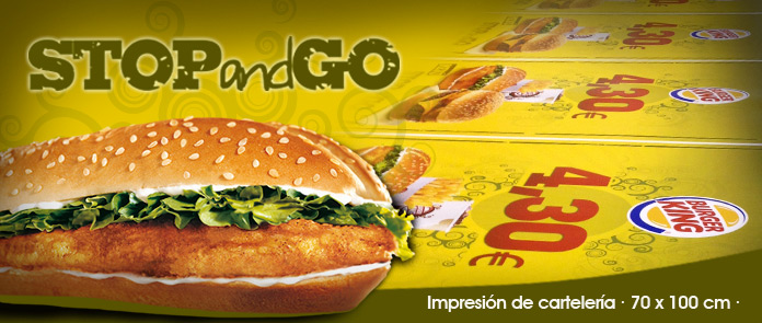 Burger King - carteles stop & go *