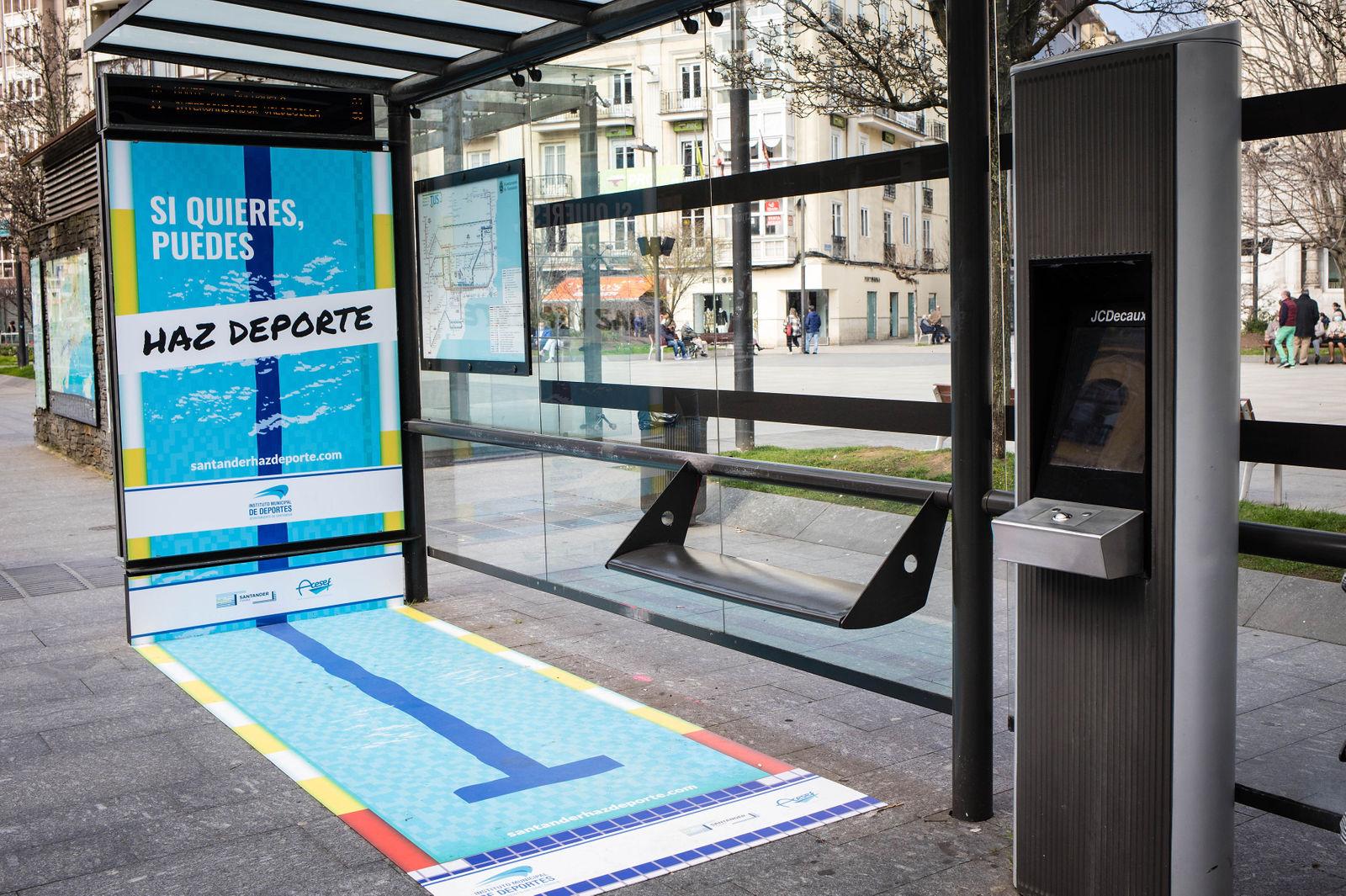 """Campaña de publicidad exterior en Santander """"Santander Haz Deporte"""""""